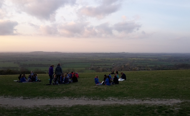 It was a beautiful evening to be up on the downs